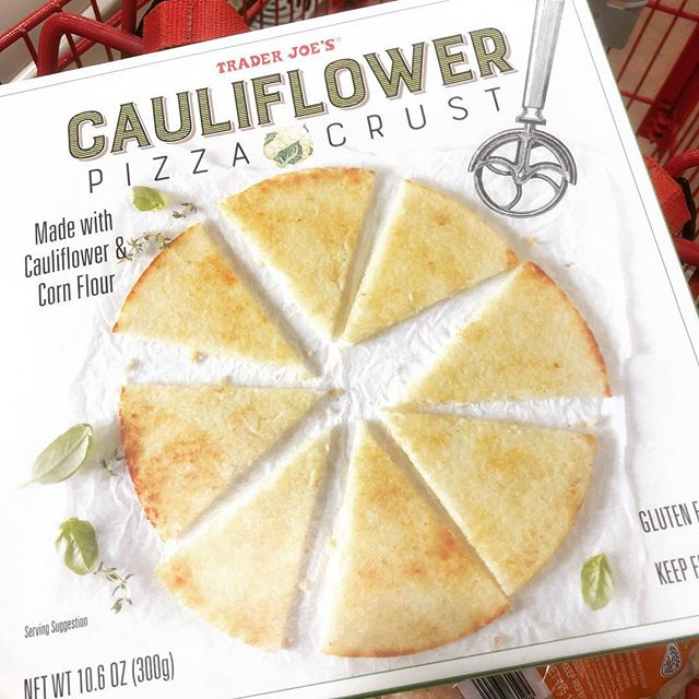 If you have a Trader Joe's nearby get the cauliflower pizza crust you won't regret it. #traderjoes #traderjoesfinds #must #pizza #cauliflowerpizza #snack #healthymom #healthywife #healthyfamily