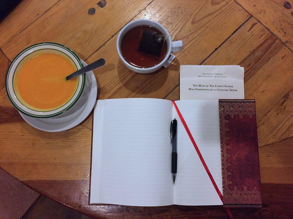 Vanessa's Lent journal.