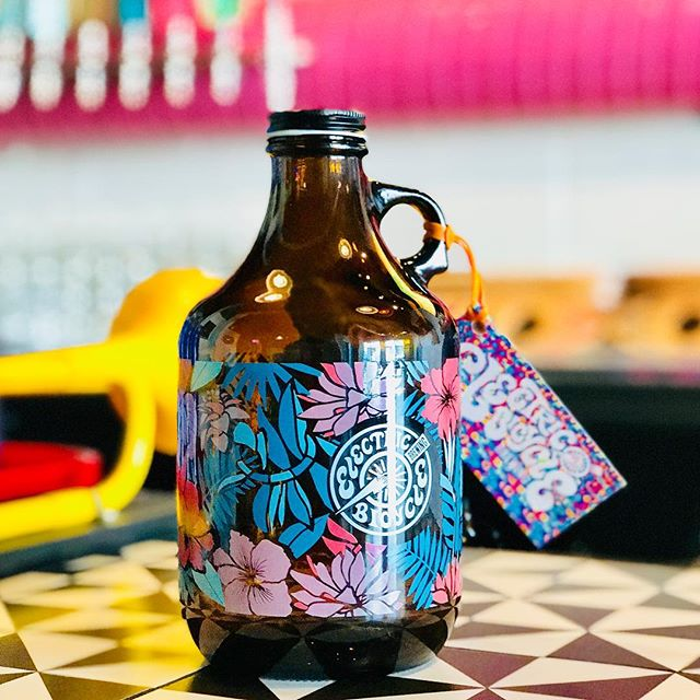 💥⚡️New 32oz growlers are now available! Get one to match your very in style Hawaiian 🌺 shirt⚡️💥