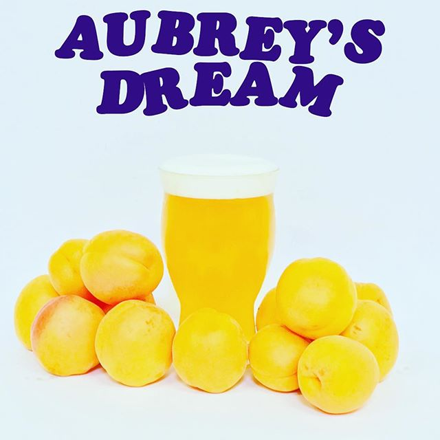 ⚡️💥 🍑 BEER RELEASE: AUBREYS DREAM APRICOT WIT! 🍑 Easy, ultra crushable summer beer. It's tart and tangy rather than sweet and  is complemented by Lemondrop hops for a citrusy finish. Aubrey's Dream Apricot Wit is best enjoyed with friends, ear to ear smiles, side splitting gags and patio parties. This one is for you @ashannon 💥⚡️ . . ABV-5% IBU-20