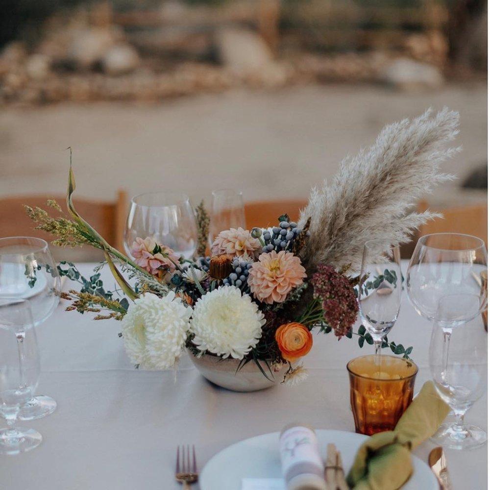 Wedding Center Pieces for Primary Petals / Photo Credit: Logan Cole Photo