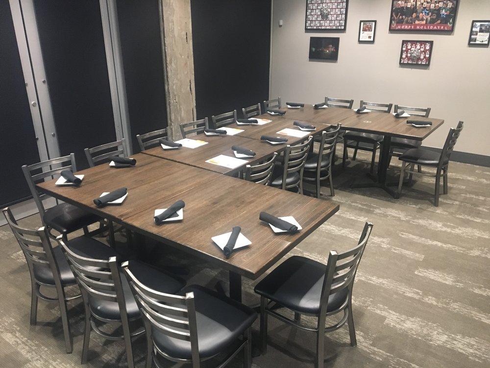 The Boiler Room -  U Shape - 6 Tables - 18 Guests.JPG