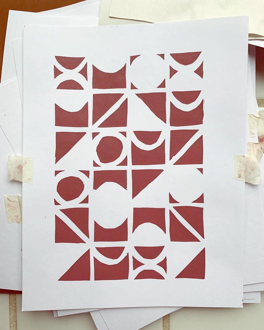 stencil-method screenprint  2019