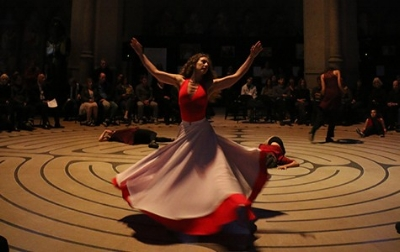 Kinetech Arts was among the performers on Friday at Grace Cathedral.