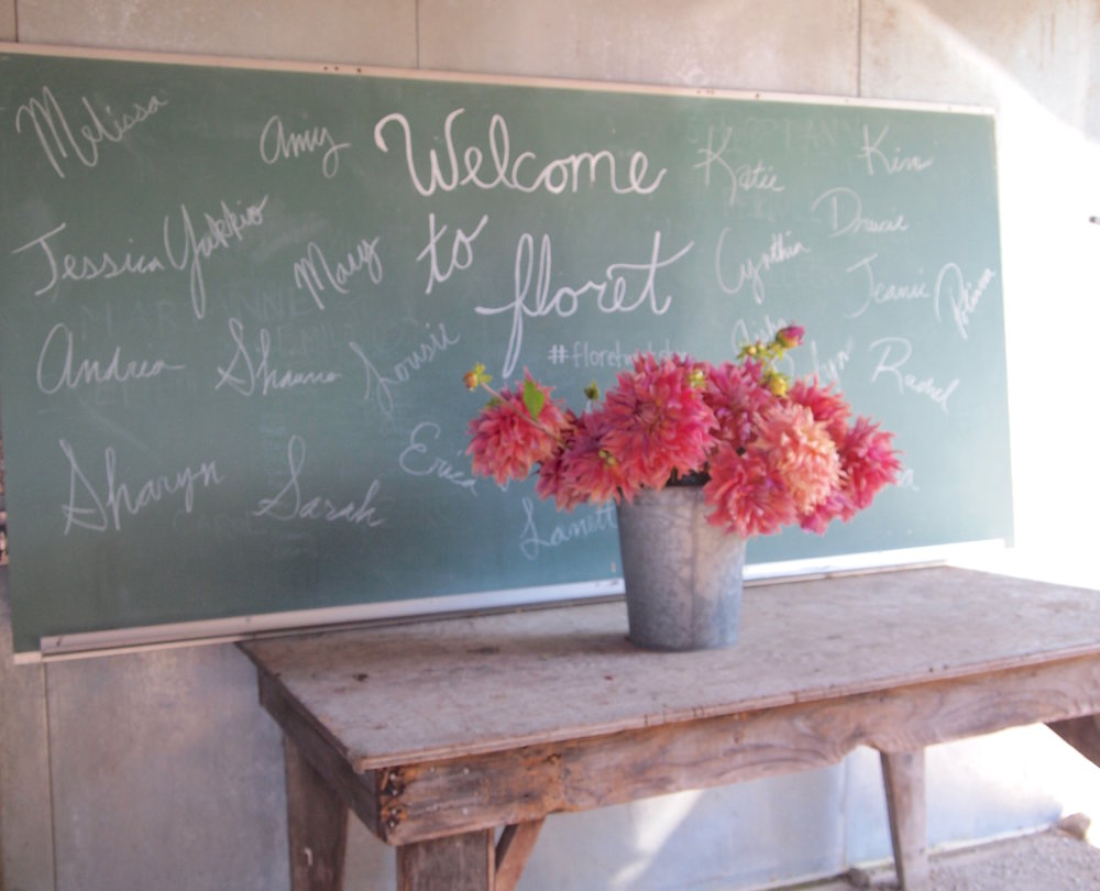 A warm welcome for the Floret students!