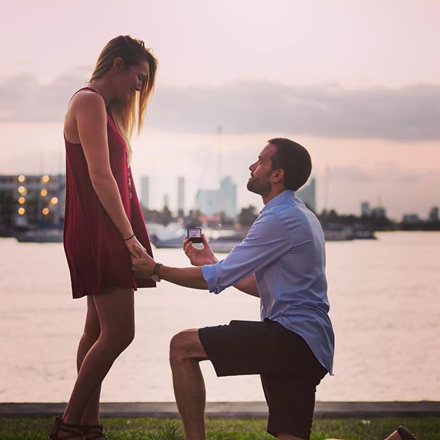 The moment when he gets down on one knee...❤️ = 💍 . . . . . . #marryme #photography #couplegoals #engaged #love #sunset #proposal #wedding #bliss #ido #marryme #ladies #gentleman #lovemyjob #photoshoot #ring #moments #priceless #chivalry