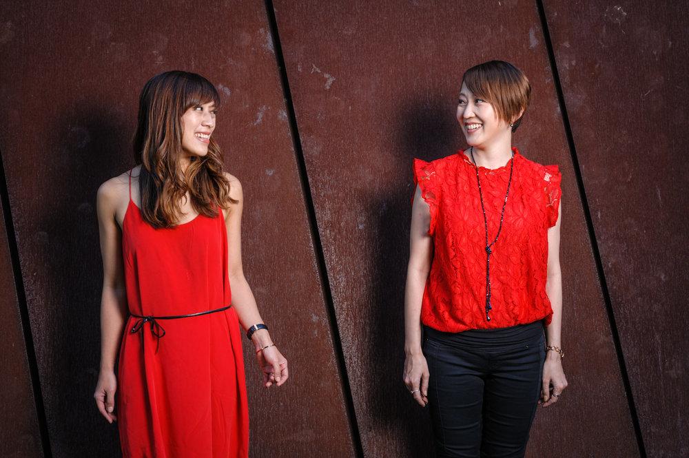Christina (Conductor)and Ayako (Choir Director & Pianist)