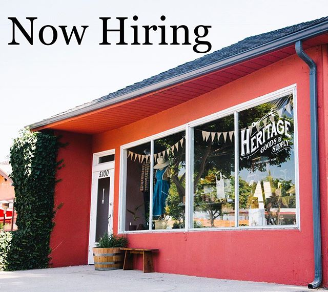 We are looking for a highly motivated individual to manage our store @heritagegoodsandsupply.  To join our team please email resume to hello@heritagegoodsandsupply.com, managerial experience preferred. . . . . . . . #storemanager #womenrunbusiness #heritagegoodsandsupply #joinourteam #womensheritage