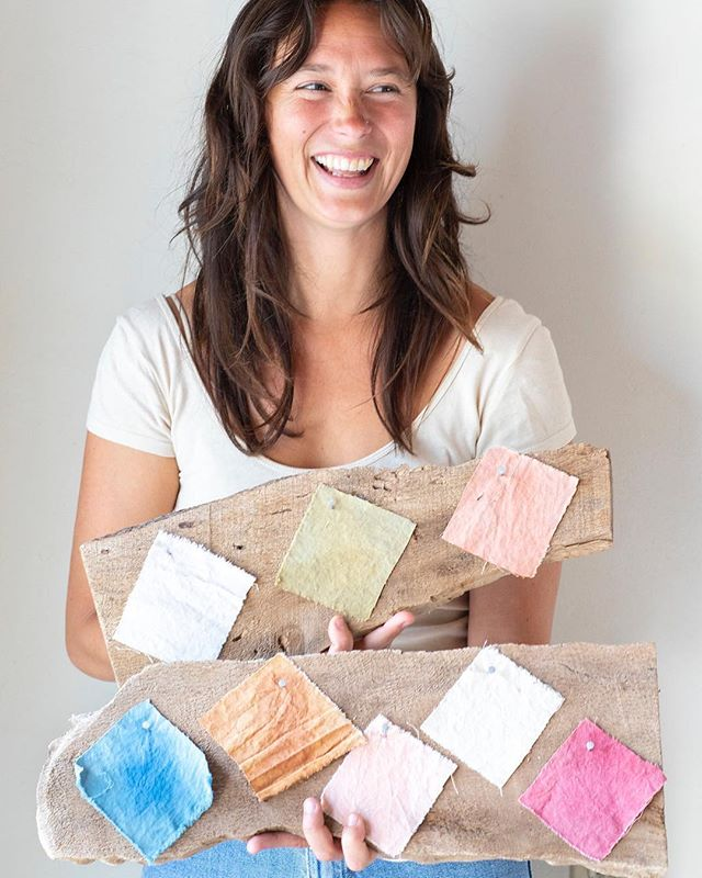 In case you missed it, see our post on @bluminflower a natural dyes artist and follow her steps to create a fermented indigo dye and get dyeing!  Link in profile. 📷 @brittanyesmith . . . . . . . #fermentedindigodye #naturaldye #getdyeing #tryit #caitlinmccann #womensheritage