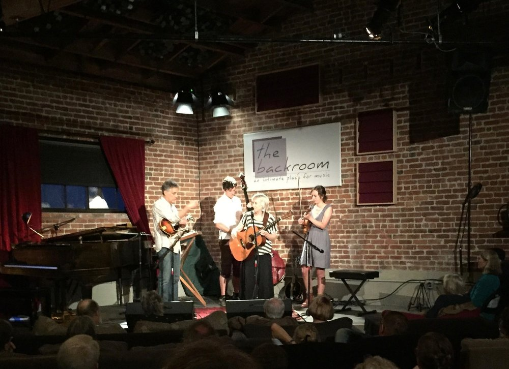 Laurie Lewis & Friends on Opening Night, April 16, 2016. (Photo by Audrey Faine)