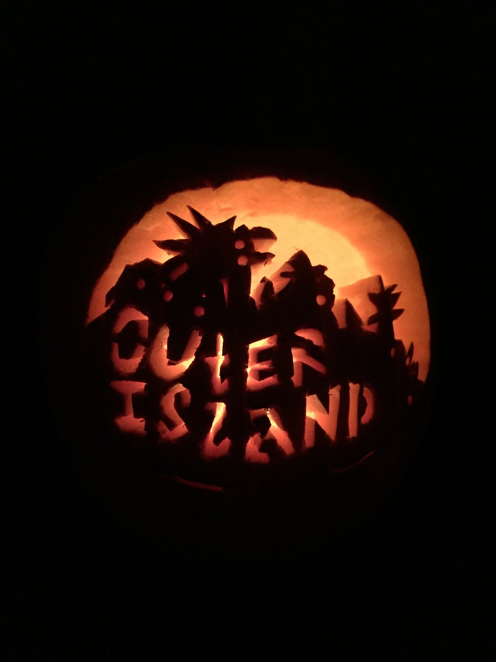Outer island Pumpkin carving