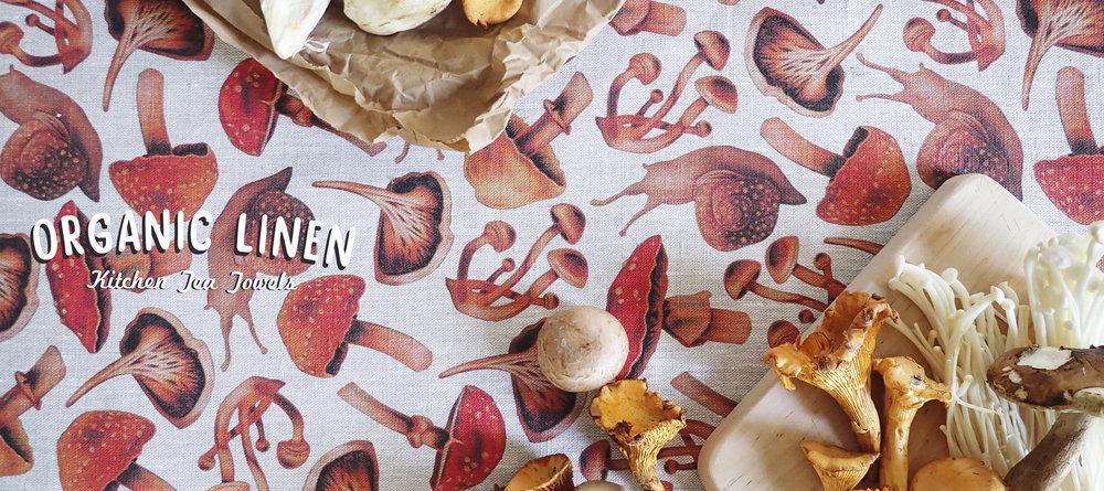 Organic Linen Tea Towels