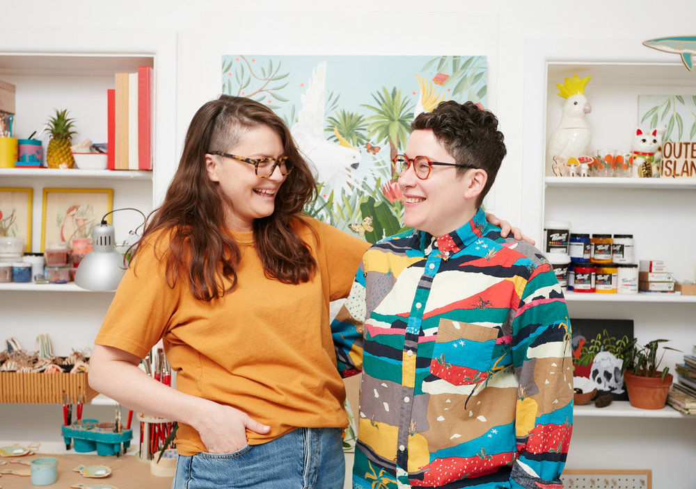 Outer Island's Stephanie Chambers and Amy Ranck are showcasing their pieces at the Big Design Market.  CREDIT: MIM STIRLING