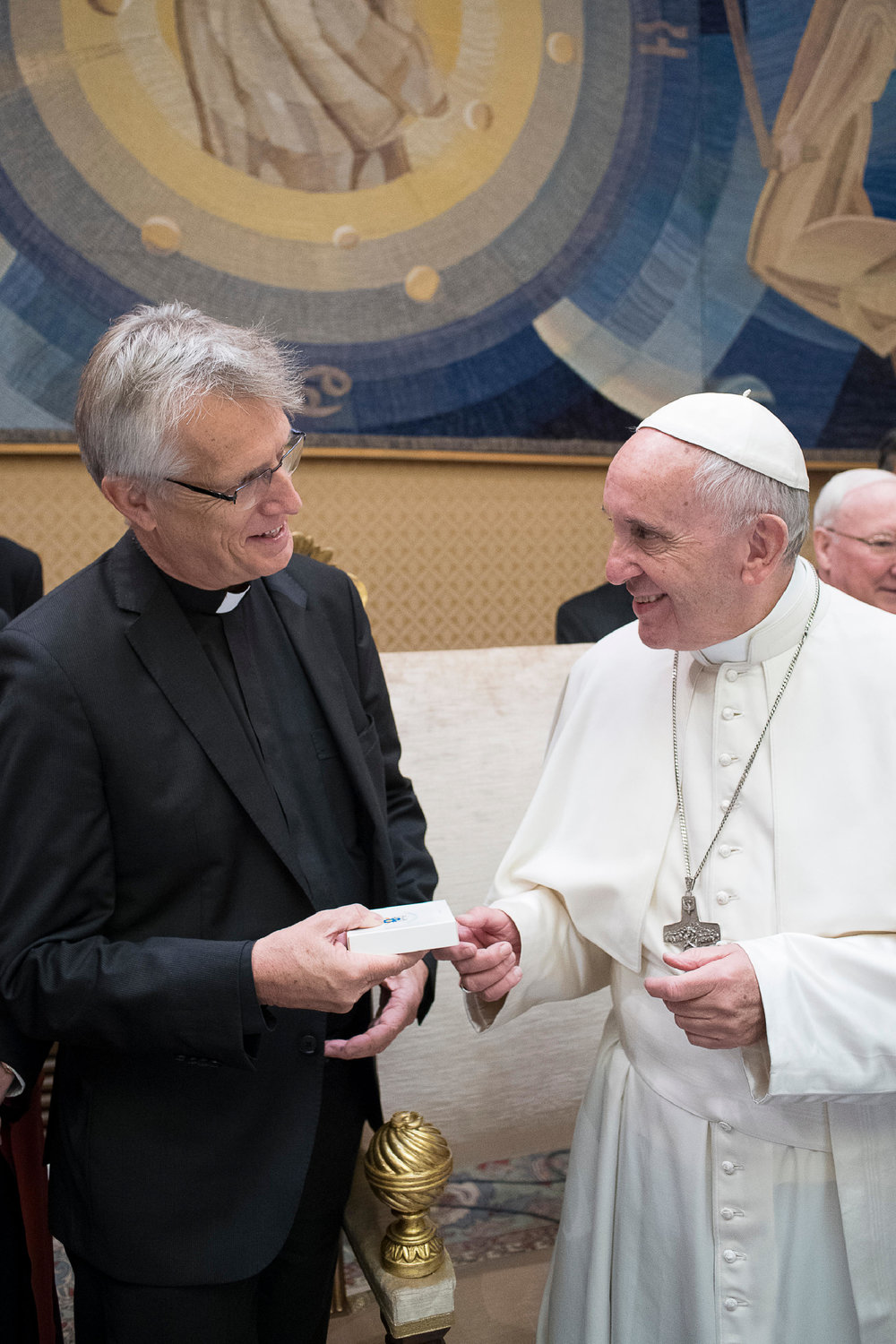 Rev. Dr Martin Junge and Pope Francis (credit: L'Osservatore Romano)