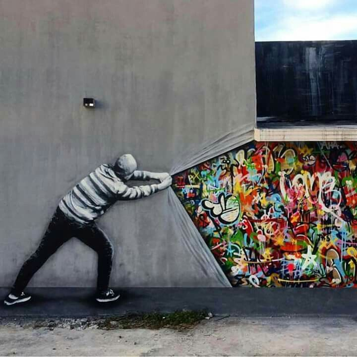 Is this tagging/graffiti/street art - a tribute to all of the above?