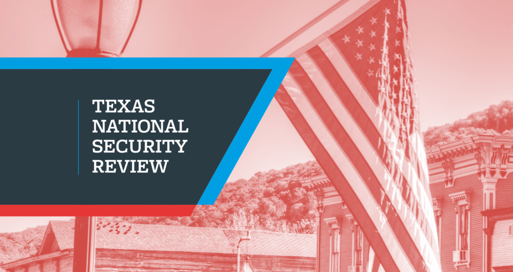 Standing out from the crowd with a new journal  Texas National Security Review Visual identity, print design, website design & build