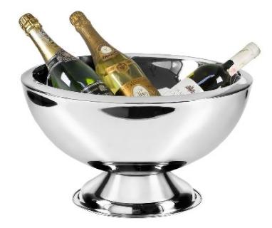 Edzard Champagne bucket Cadiz, Wine bucket, Cooler, stainless steel