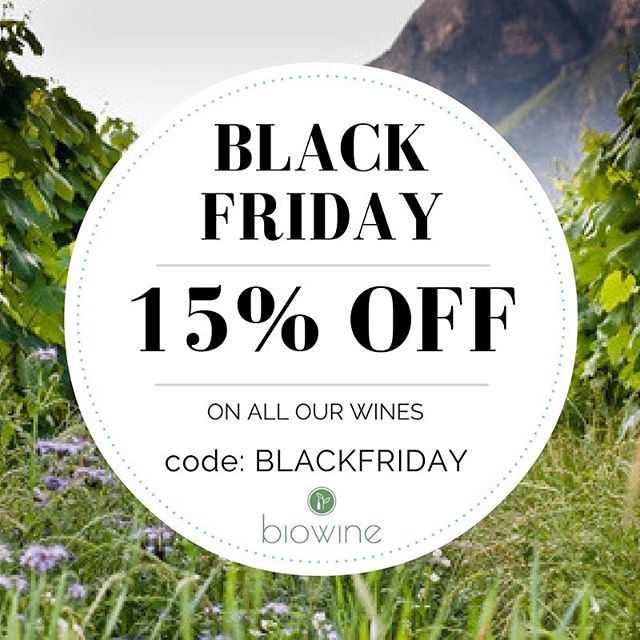 Black Friday is here! Get 15% off all our selection of wines! #organicwine #biodynamicwine #organiclife #ethicalbusiness #fairtrade #sunscriptionbox #wine #winery #wines #winelover #winetasting #veganwine #vegan #organic #veganfoodshare #organic #organicliving #london #londonlife #biowinebox  #organicwine #biodynamicwine #organiclife #ethicalbusiness #fairtrade #sunscriptionbox #wine #winery #wines #winelover #winetasting #veganwine #vegan #organic #veganfoodshare #organic #organicliving #london #londonlife #biowinebox #vinbio #vinsuisse #vinfrancais #vinitalien #zurich #geneve #valais #foireduvalais #vinbio #vinbio #biowinexpo