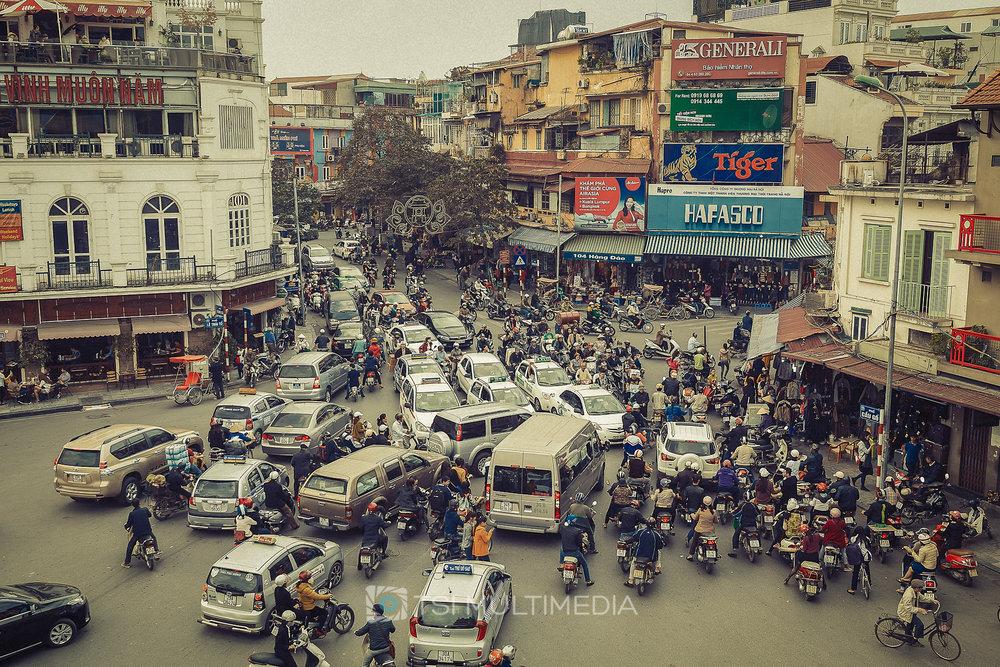 A real life crossroads...Hanoi, Vietnam