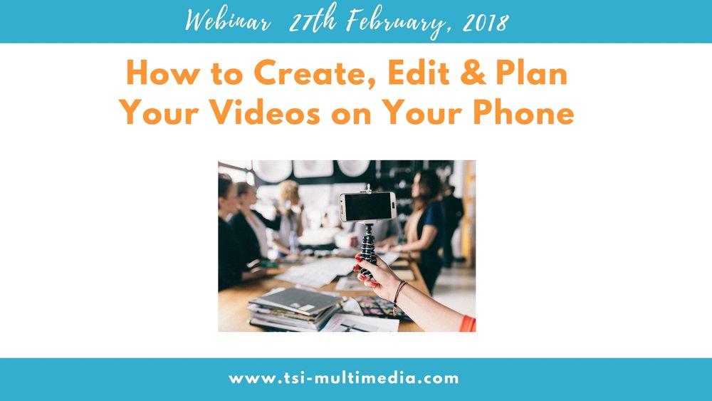 DIY Video webinar