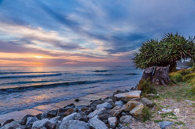 A brooding sunrise over the ocean. Taken from what we affectionately call 'Reception Rock'. Accessed from Brooms Head Caravan Park. This is where park visitors go to get any type of mobile or internet reception. And what a beautiful place to take stock, as you make contact with the outside world. 🌴🌊🌦 . . ©️ TSI Multimedia 2018 . . #sunrise #sunrise_pics #landscapes #landscapephotography #broomshead @focusaustralia @sunrise_and_sunsets