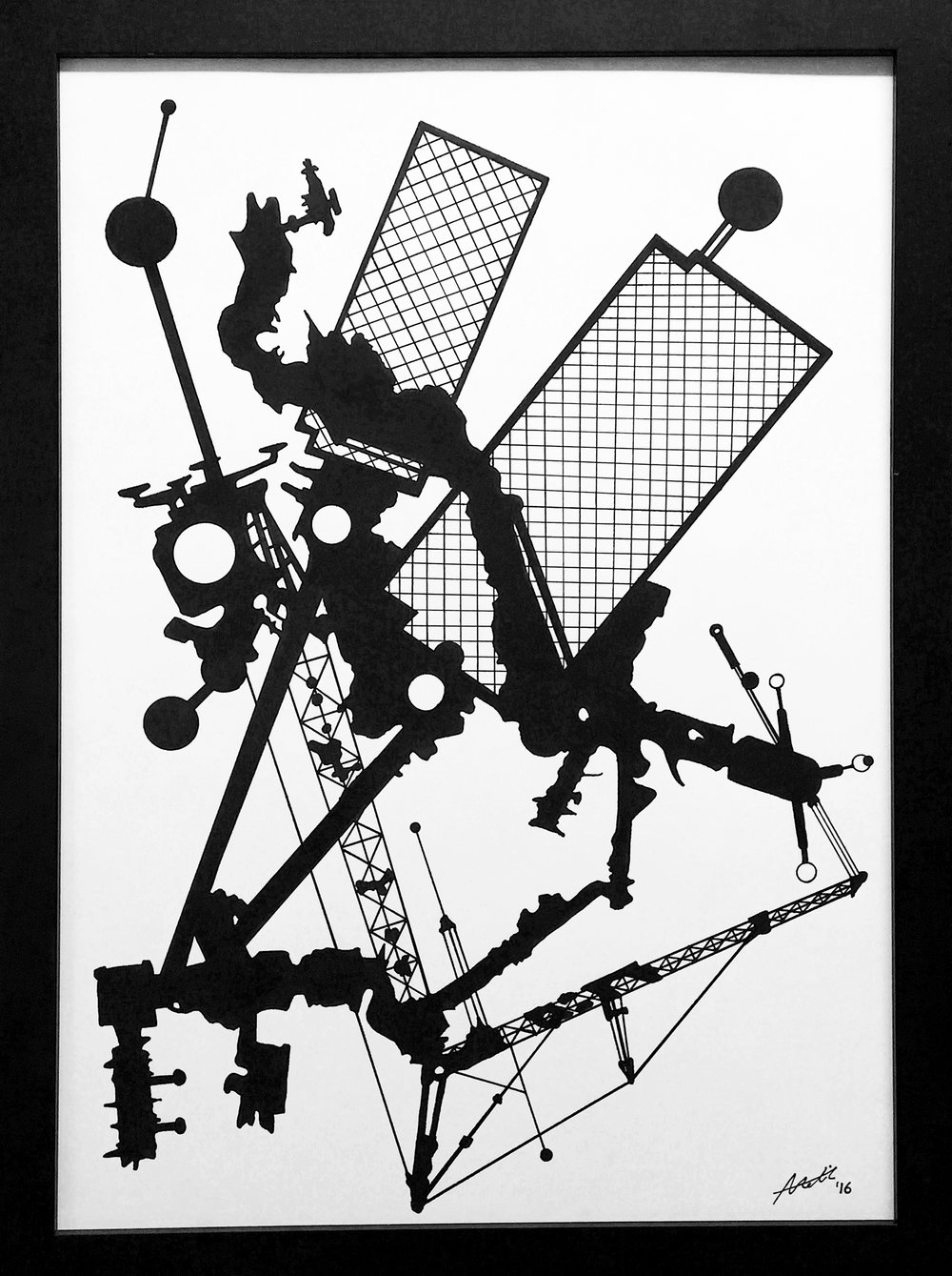 James Boman   Absolute, 2016. Pen and ink drawing. 59 x 42 cm. £350.00 (framed).