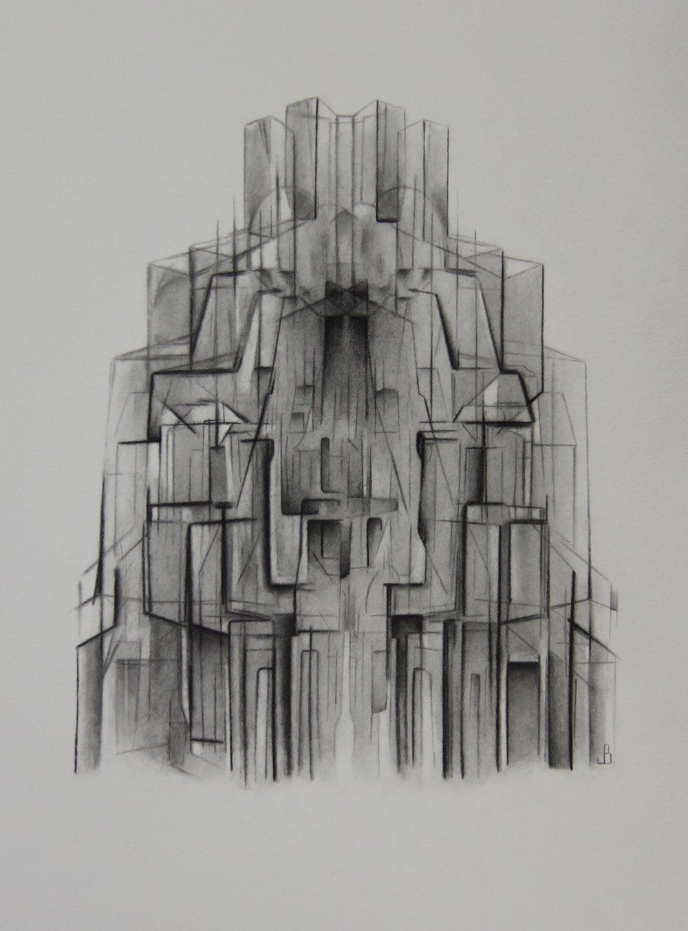 Jeremy Burns   Reassembling, 2016. Pencil on cartridge paper. 26 x 36 cm. £350.00 (framed)