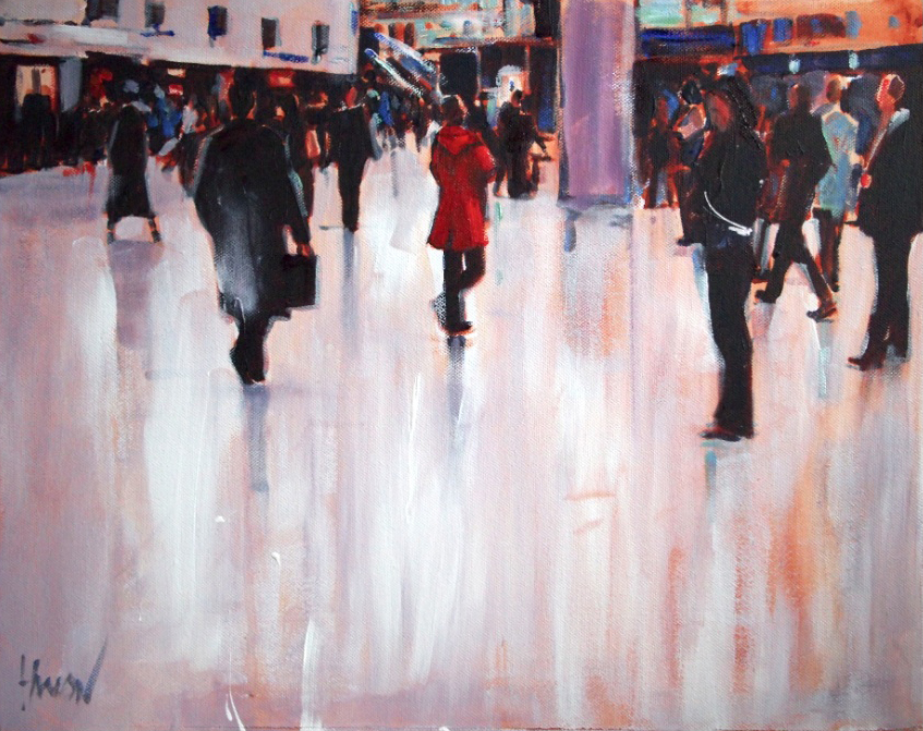 Jim Hanlon   Concourse II, 2014. Oil on canvas. 41 x 51 cm. £795.00
