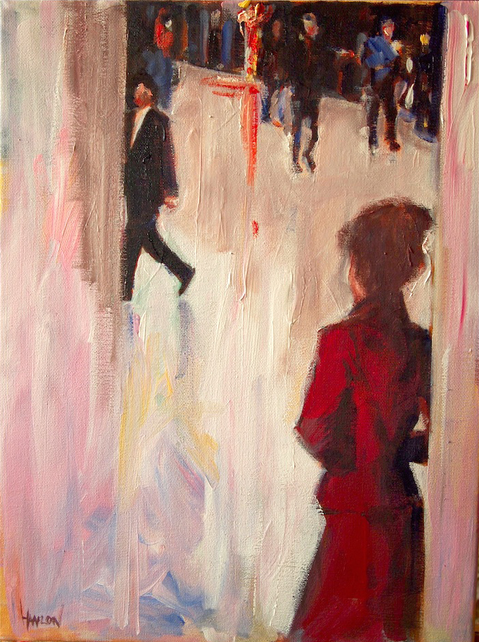 Jim Hanlon   Concourse III, 2015. Oil on canvas. 30 x 40 cm. £395.00