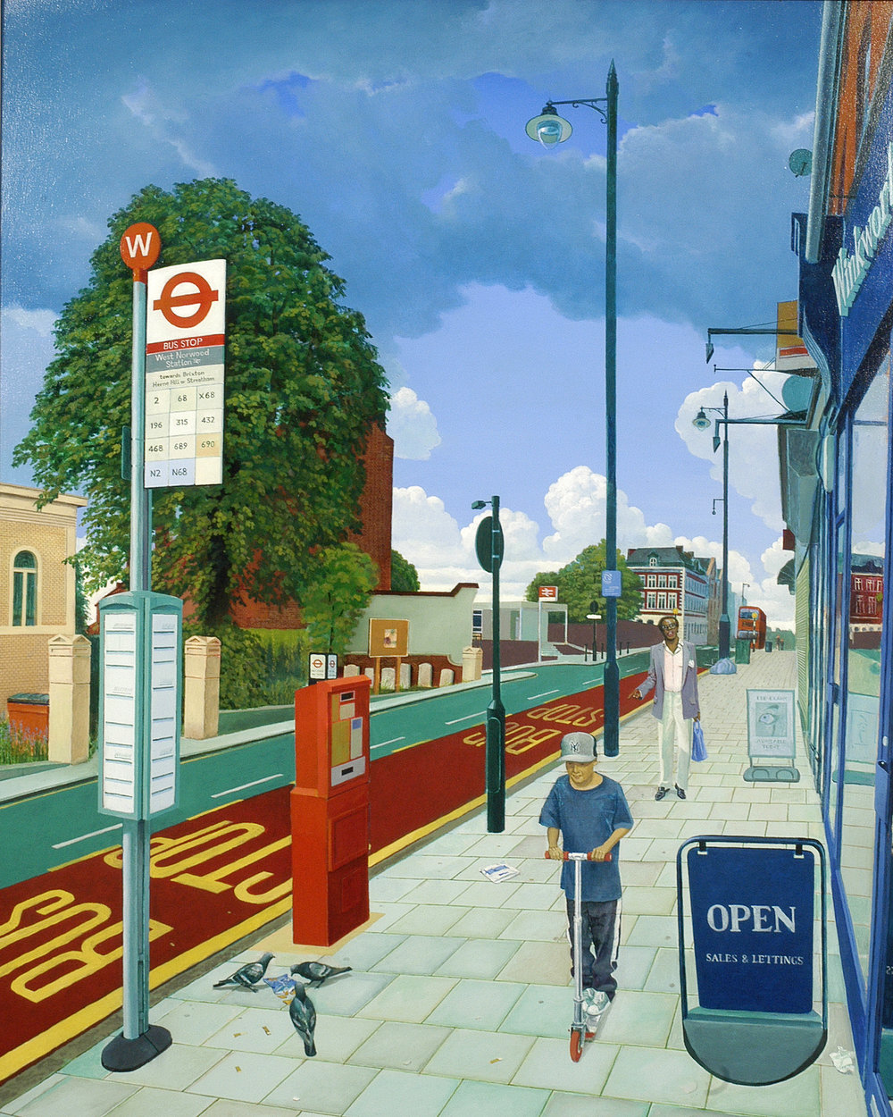 "Martin Grover   Bobby Womack in West Norwood Singing ""Daylight"", 2009.  Oil on canvas. 104 x 150cm. £3950.00"