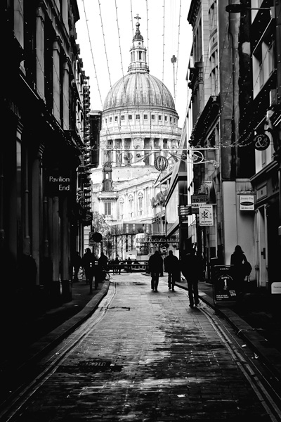 Val Kelly   St Pauls Cathedral (Peeps Rt), 2009. Photograph on aluminium. 60 x 90 cm. £995.00