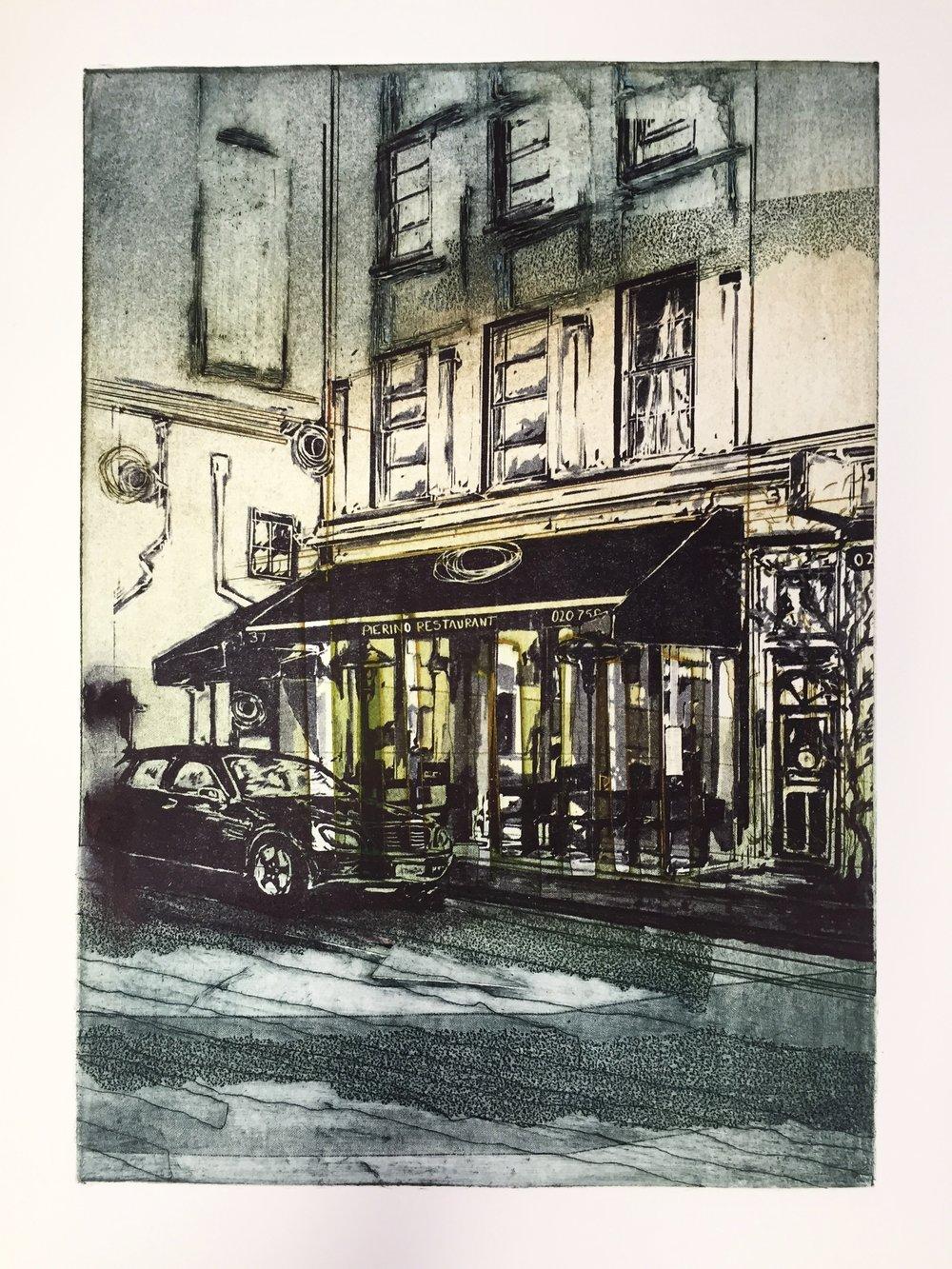 Alexandra Sivov Pierino, 2016.Collograph & polyester plate.50 x 40 cm £195.00 (framed).
