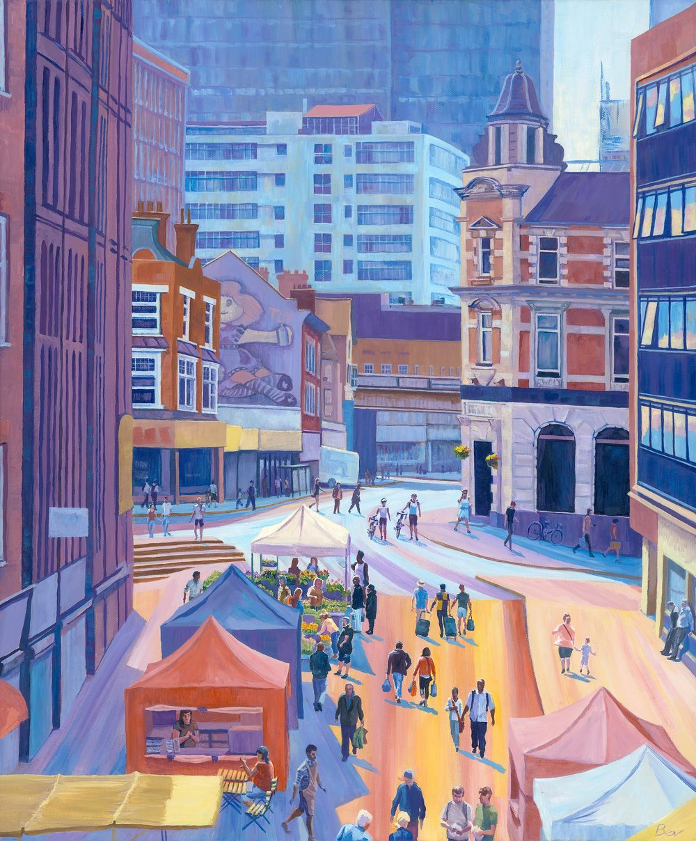 Market in Sunshine Acrylic on canvas | 55 x 65 cm £900