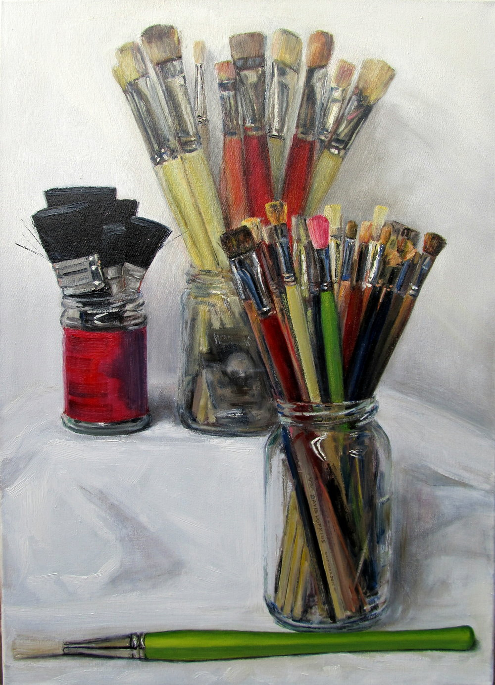 Brushes #1, 2015 Oil on canvas | 70 x 50 cm £450