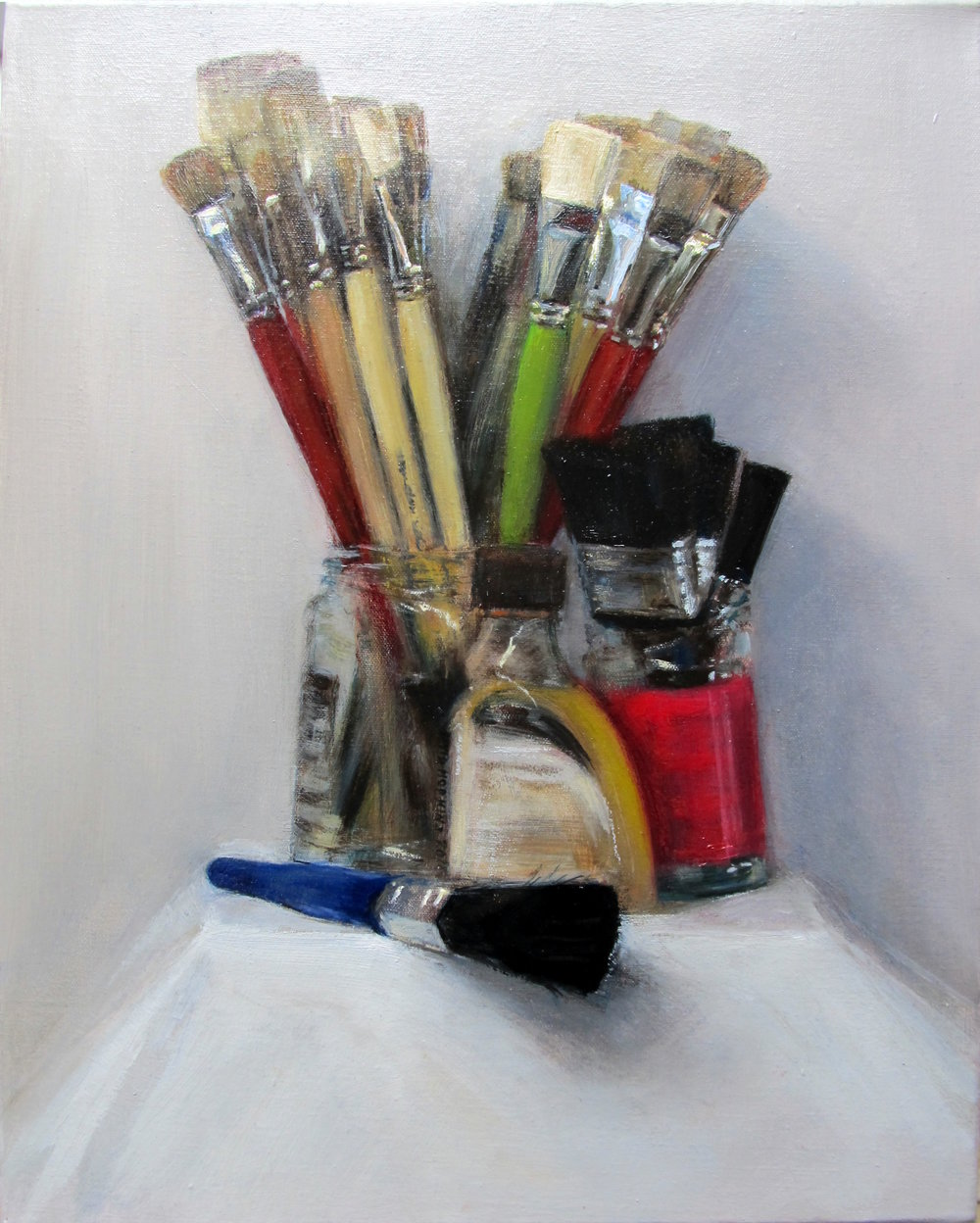 Brushes #2, 2016 Oil on canvas | 50 x 40 cm £450