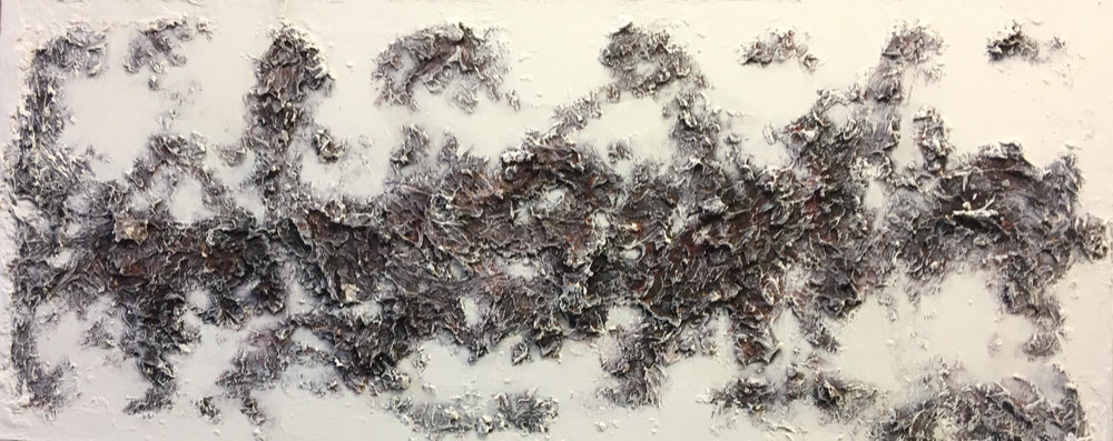 The Formation of Mountains, 2016 Mixed media on wood | 129 x 57 cm £600