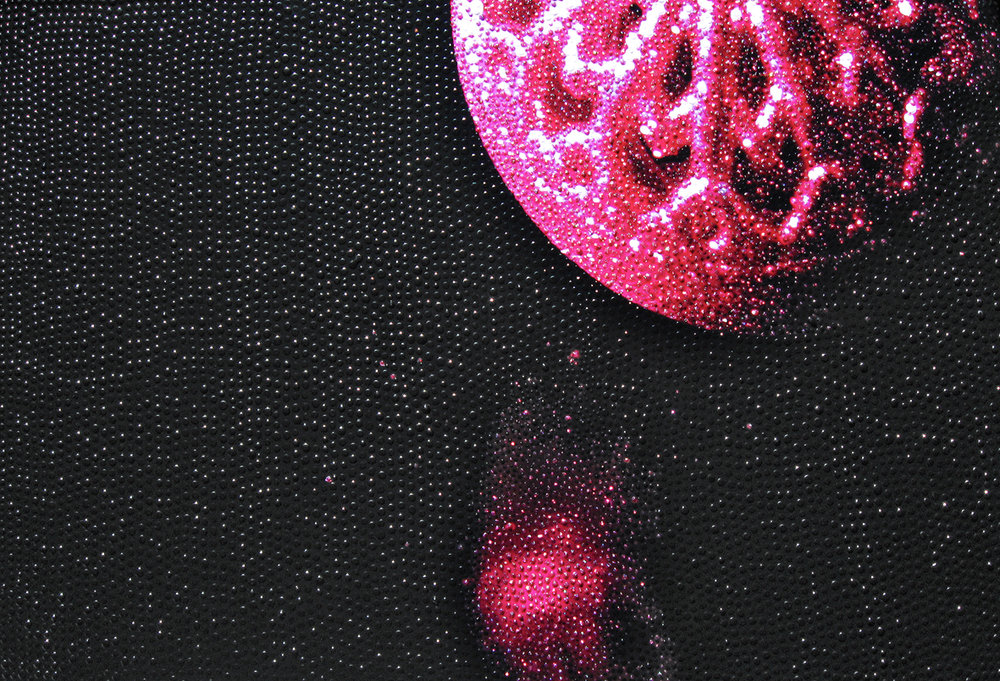 Glinda's Bubble  Dotting on digital print | 40.5 x 60.5 cm  (aluminium frame – black)  £800