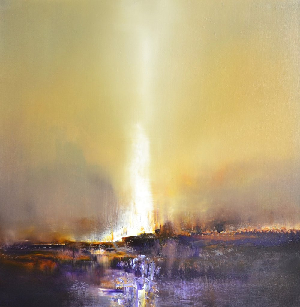 Cascade  Oil on canvas | 60 x 60 cm  £800