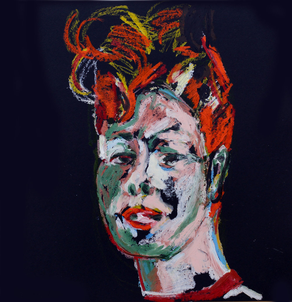 Birgitte Oil pastel on black cartridge | 44 x 43 cm (framed) £140