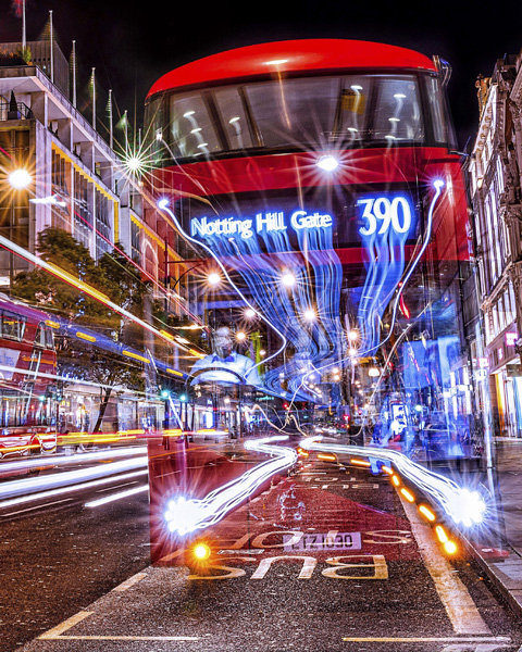 Ghost Bus  Digital Acrylic Print | 61 x 76 cm | £450 (framed)  Digital Print on Gloss | 41 x 51 cm | £75