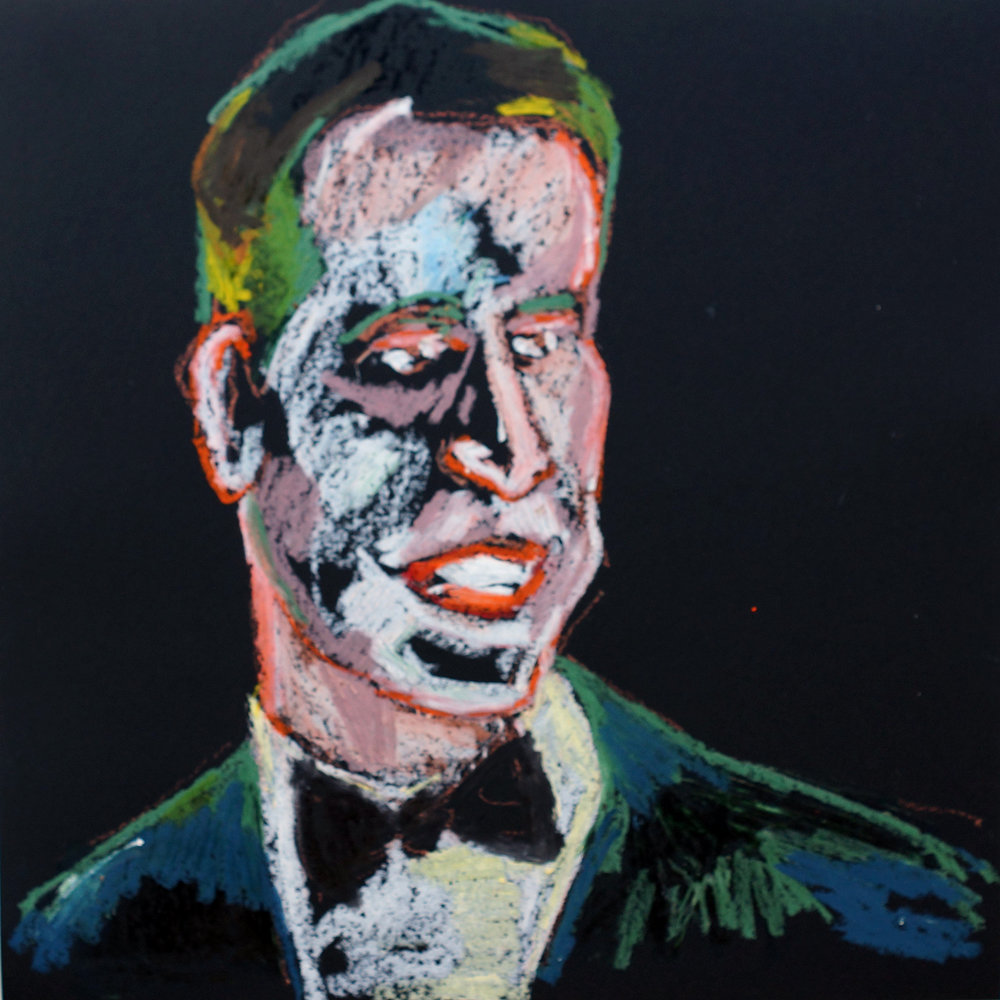 Gentleman  Oil pastel on black cartridge | 44 x 43 cm (framed) £140
