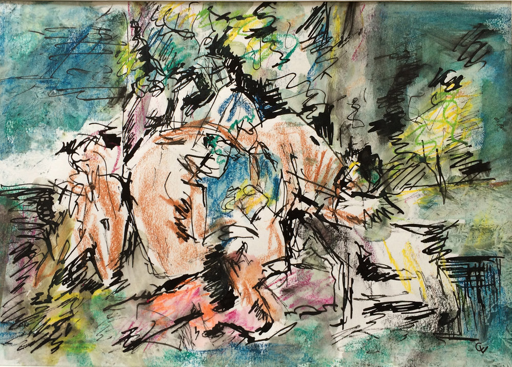 Pastoral Birth  Ink & Pastel on Paper | 40 x 28 cm | £380