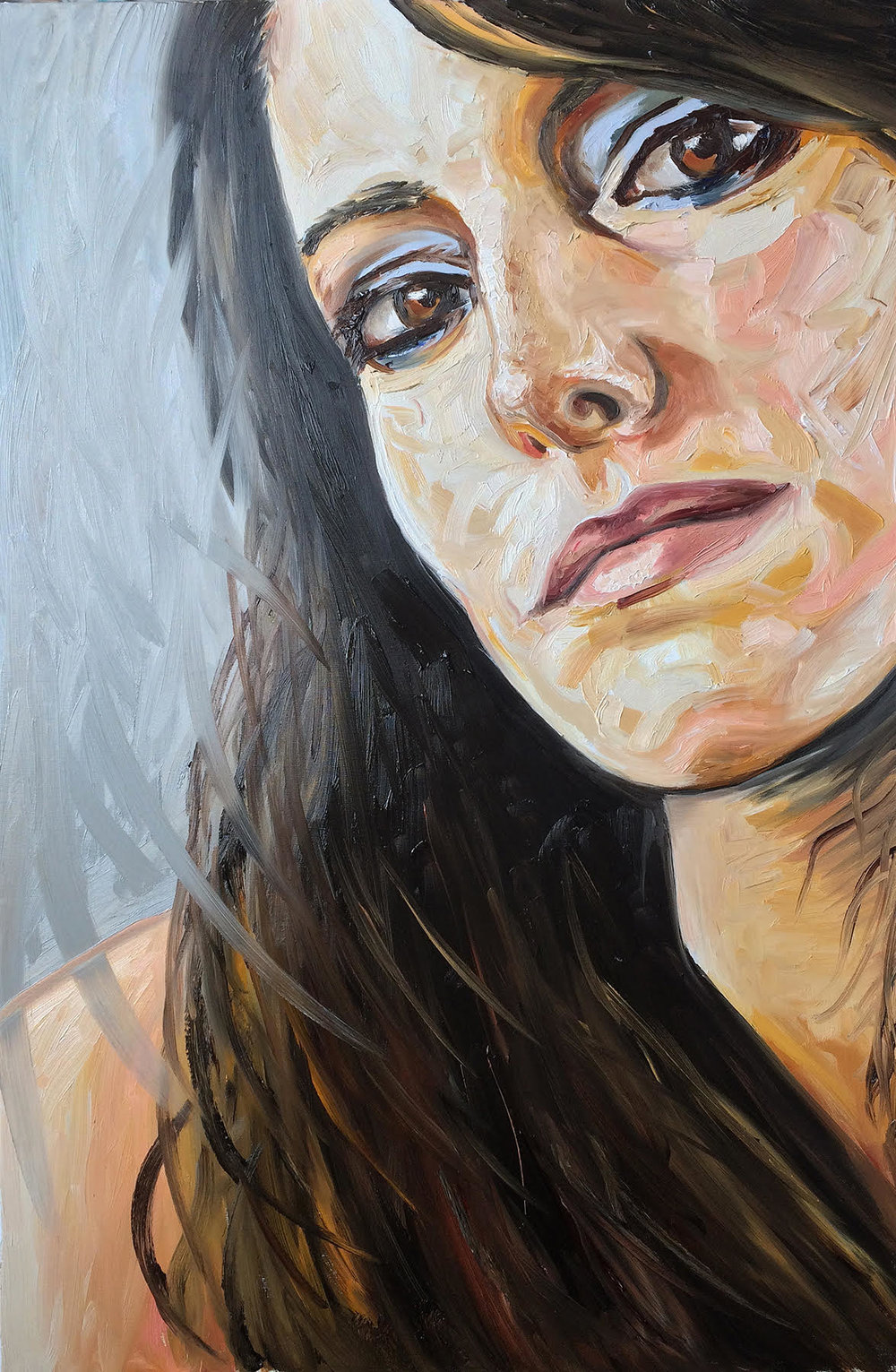 Head of a Woman 2 | Oil on Canvas | 60 x 90cm