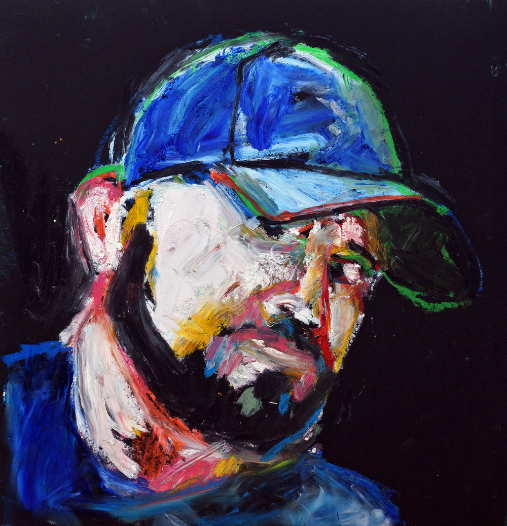 Peter | Oil pastel on black cartridge | 44 x 43 cm (framed) | £140
