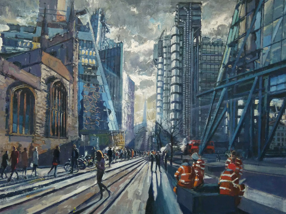 Low Light in the City, 2017 | Oil on canvas | 90 x 120 cm