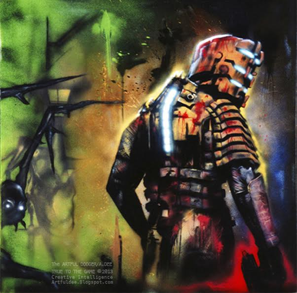 DeadSpace, 2008    Spray-paint & acrylic on canvas | 109 x 109 cm | £2,300