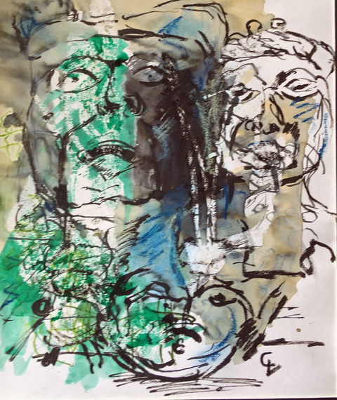Other Faces    Mixed media on paper | 35 x 45 cm | £350
