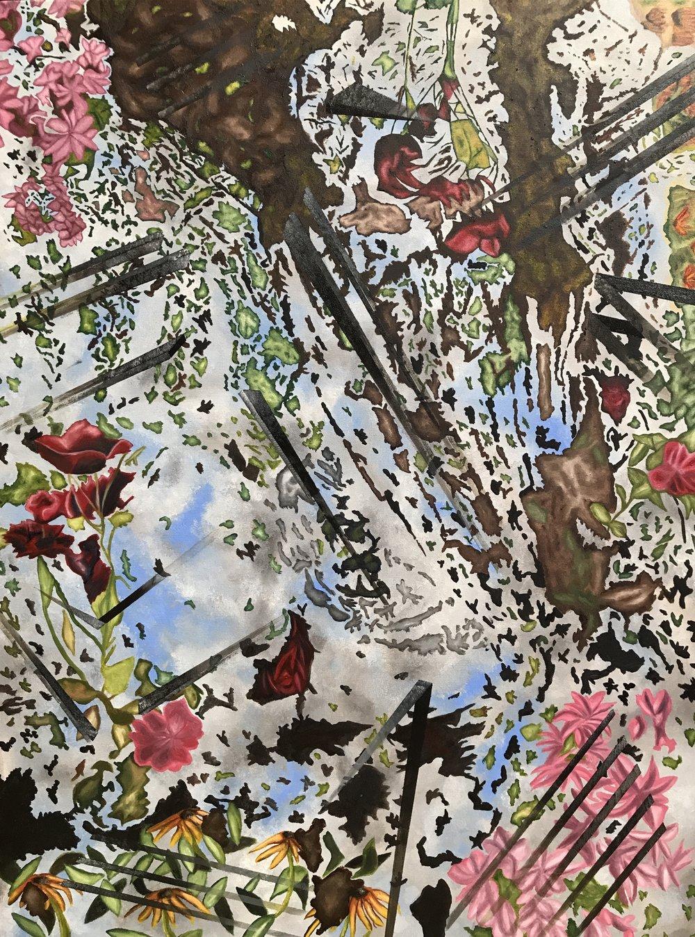 Rococo Futurism I, 2017 | Oil on Linen | 97 x 127 cm | £3,500 -For sales enquiries please email info@focusldn.com