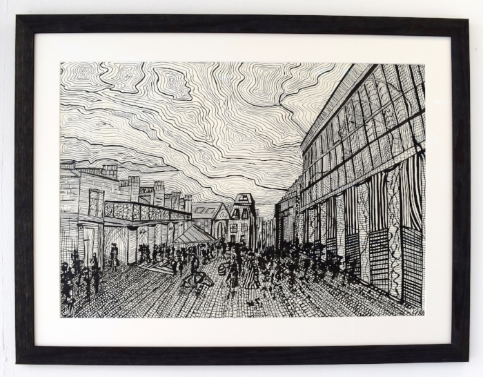 """Every single cobble is unique, just like you. Your walls hold far more than meets the eye""  Cobbled Garden, 2013 