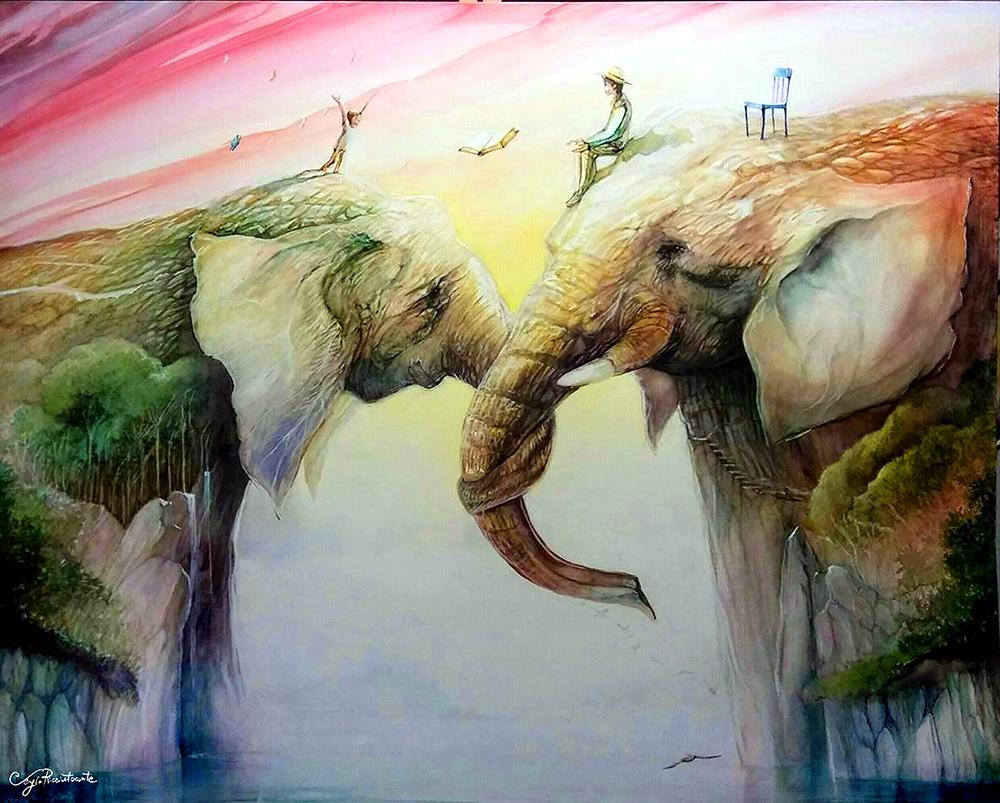 A Passagem, 2017 | Acrilico e aquarela sobre tela |100 x 80 cm | R$ 4.500
